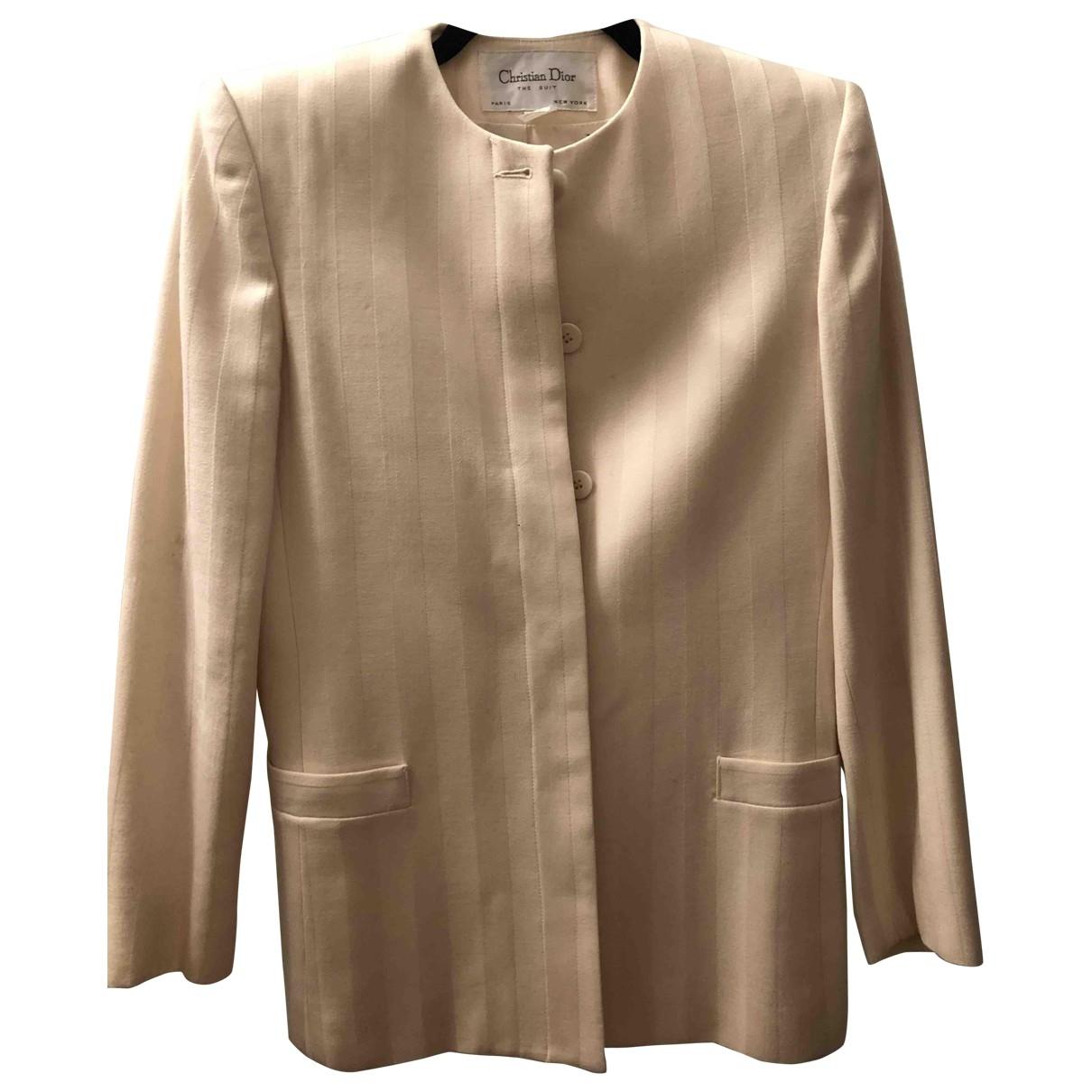 Dior - Veste   pour femme en laine - blanc