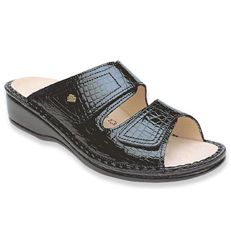 Finn Comfort Jamaica Black Croc Leather 35