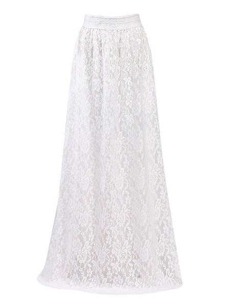 Milanoo Lace Skirt Women Maxi Skirt