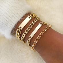 4pcs Chain Bracelet