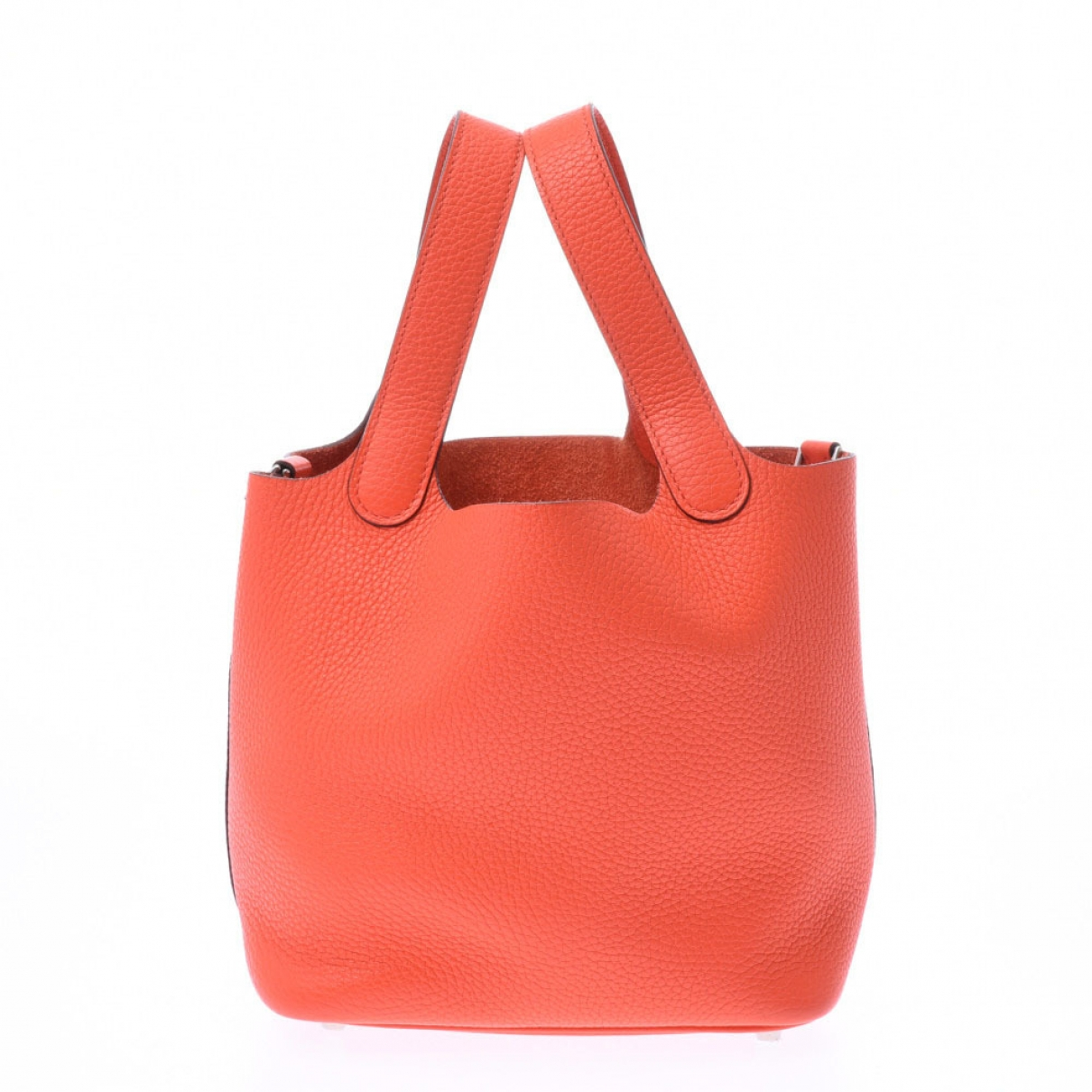 Hermes - Sac a main Picotin pour femme en cuir - orange