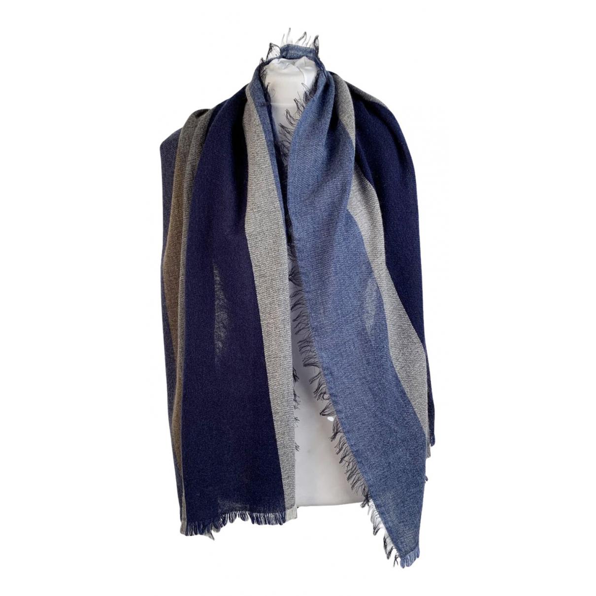 - Foulard   pour femme en cachemire - bleu