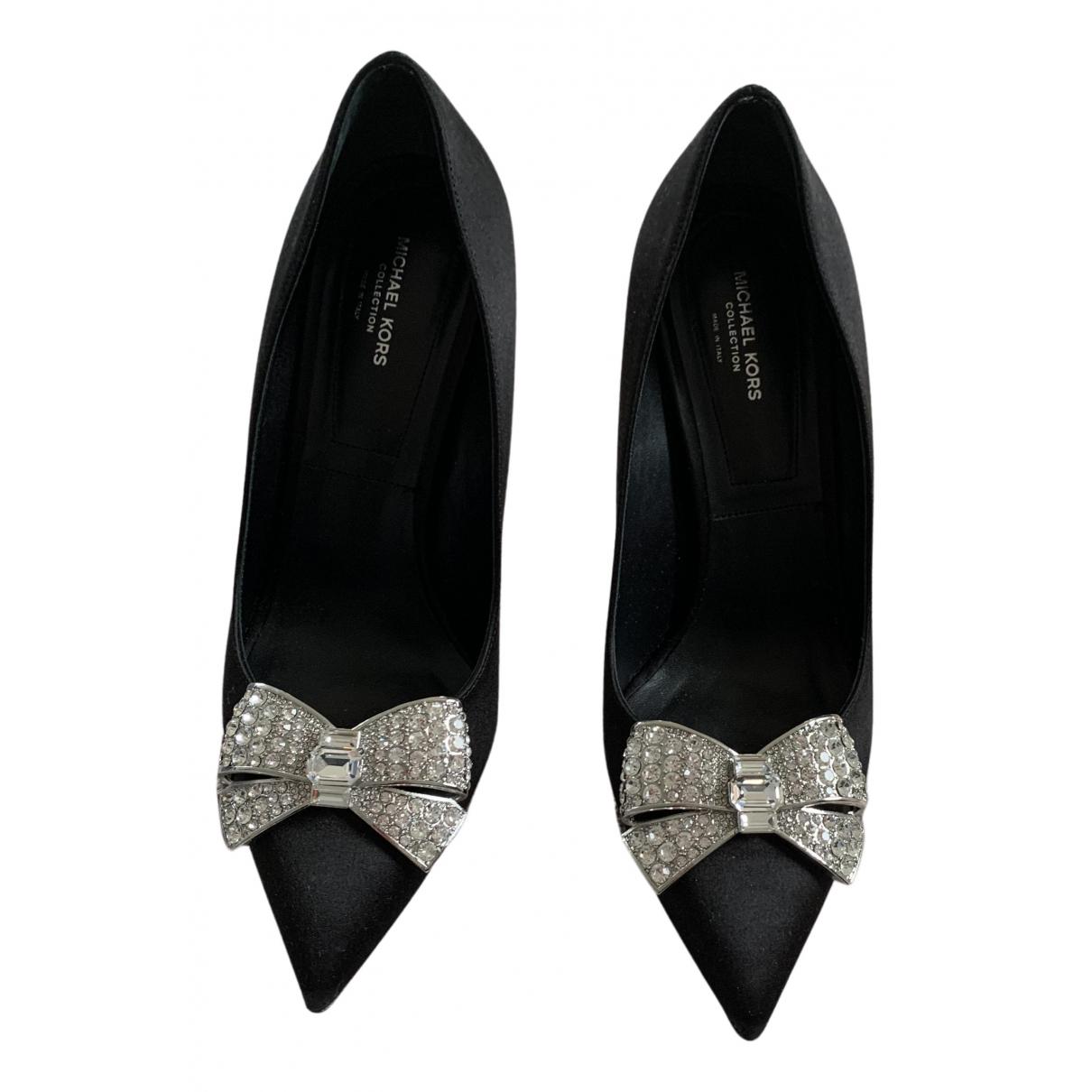 Michael Kors N Black Cloth Heels for Women 38 EU