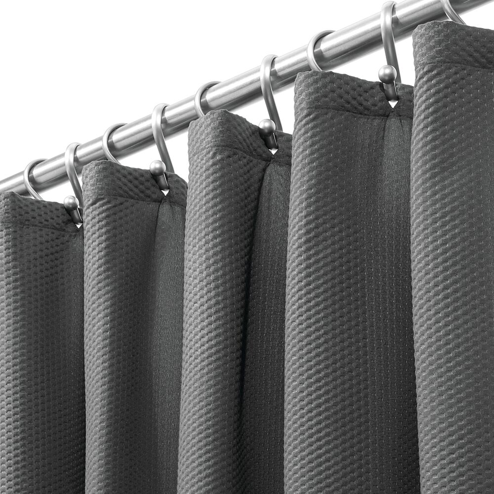 X-LONG Microfiber Fabric Shower Curtain, in Charcoal, 72