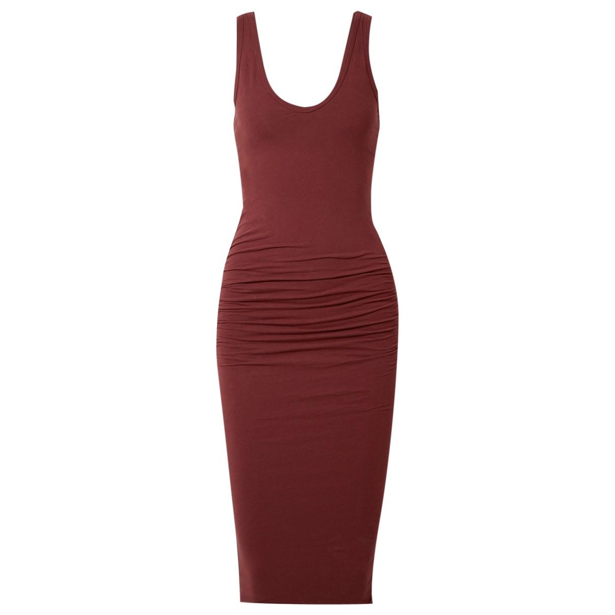 James Perse \N Kleid in  Rot Baumwolle