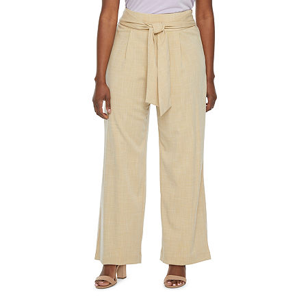 Worthington Regular Fit Wide Leg Trouser, 10 Petite , White