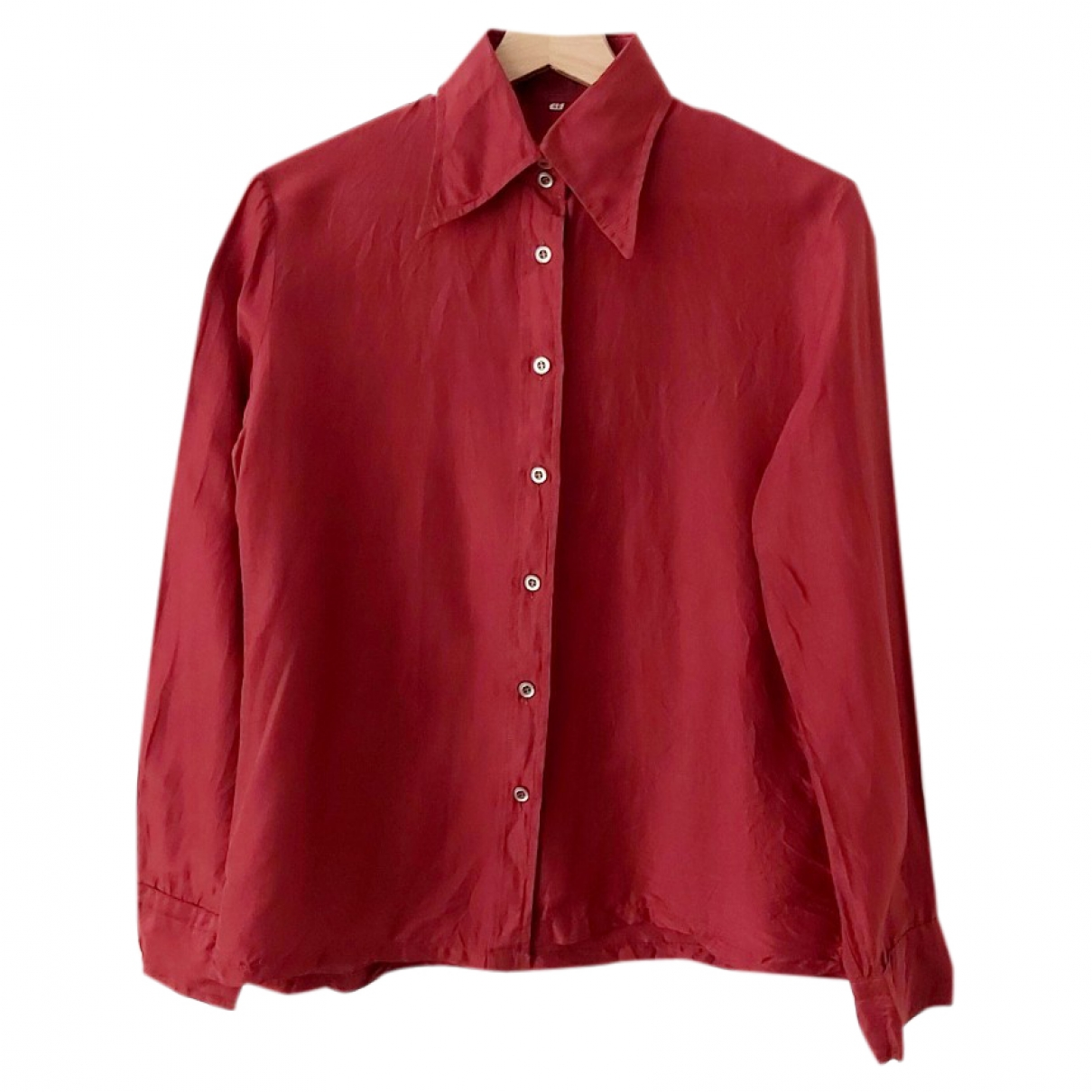 - Top   pour femme en soie - rouge