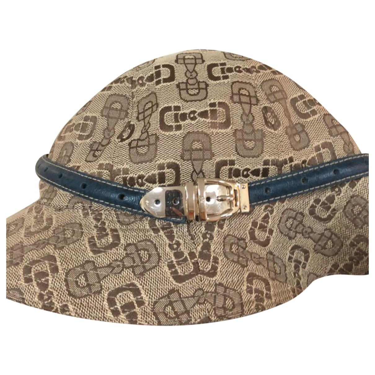 Gucci - Chapeau   pour femme en toile - marron