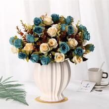 1 Strauss Kuenstliche Rose und 10 Stuecken Kopfen