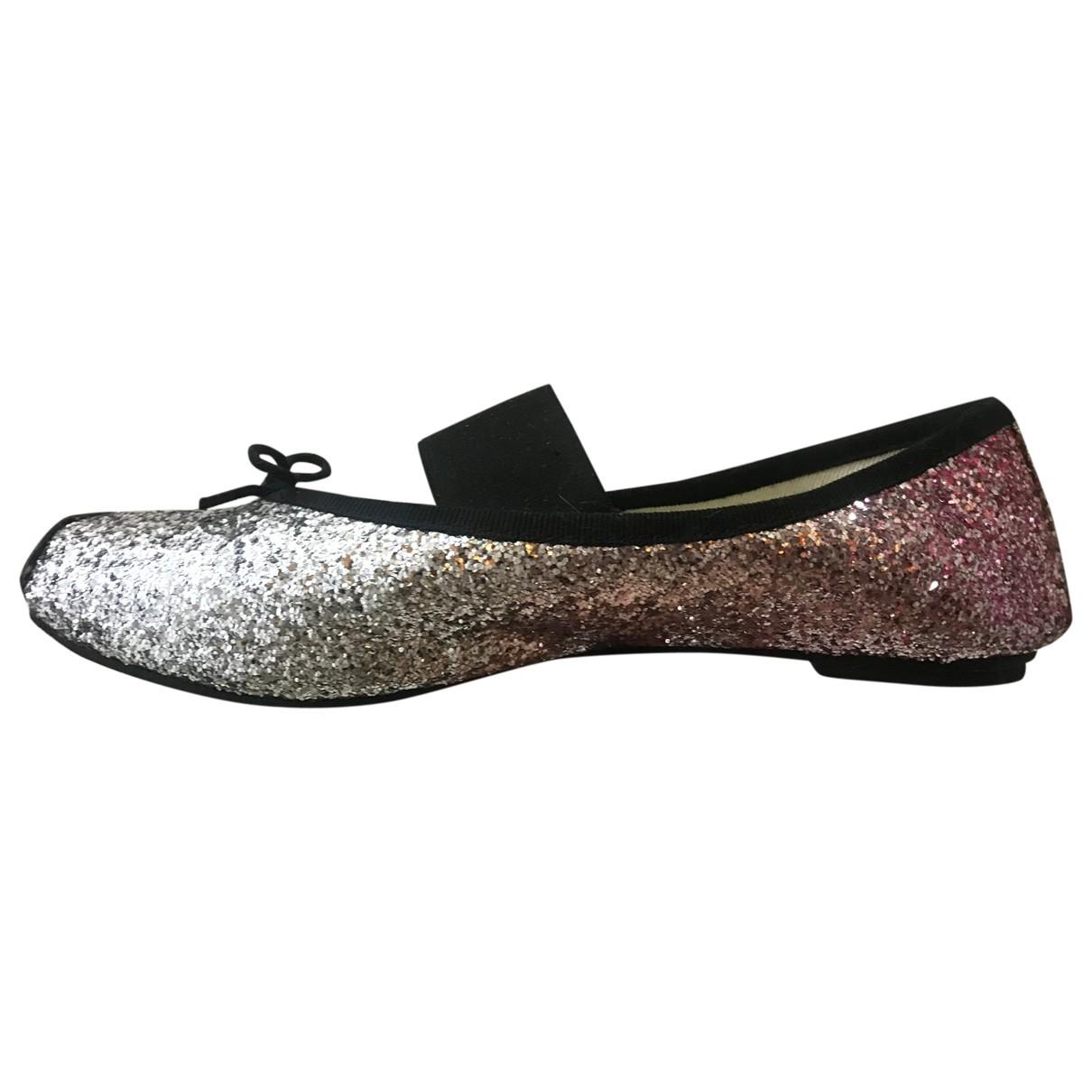 Repetto \N Pink Glitter Ballet flats for Women 37 EU