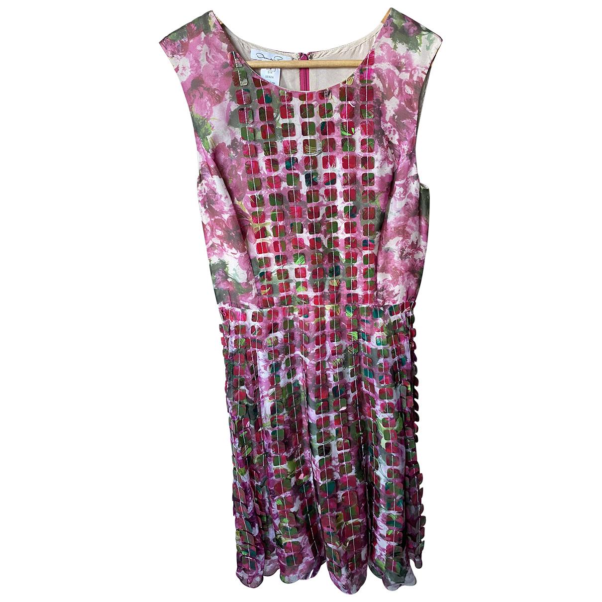 Oscar De La Renta \N Kleid in  Rosa Seide