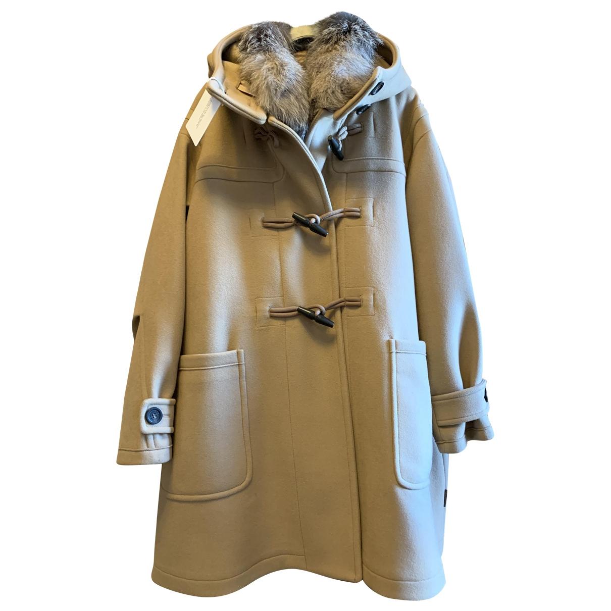 Moncler \N Camel Wool coat for Women 38 FR