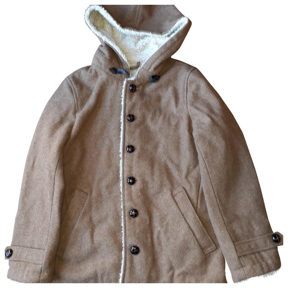 Zara - Blousons.Manteaux   pour enfant en laine - camel