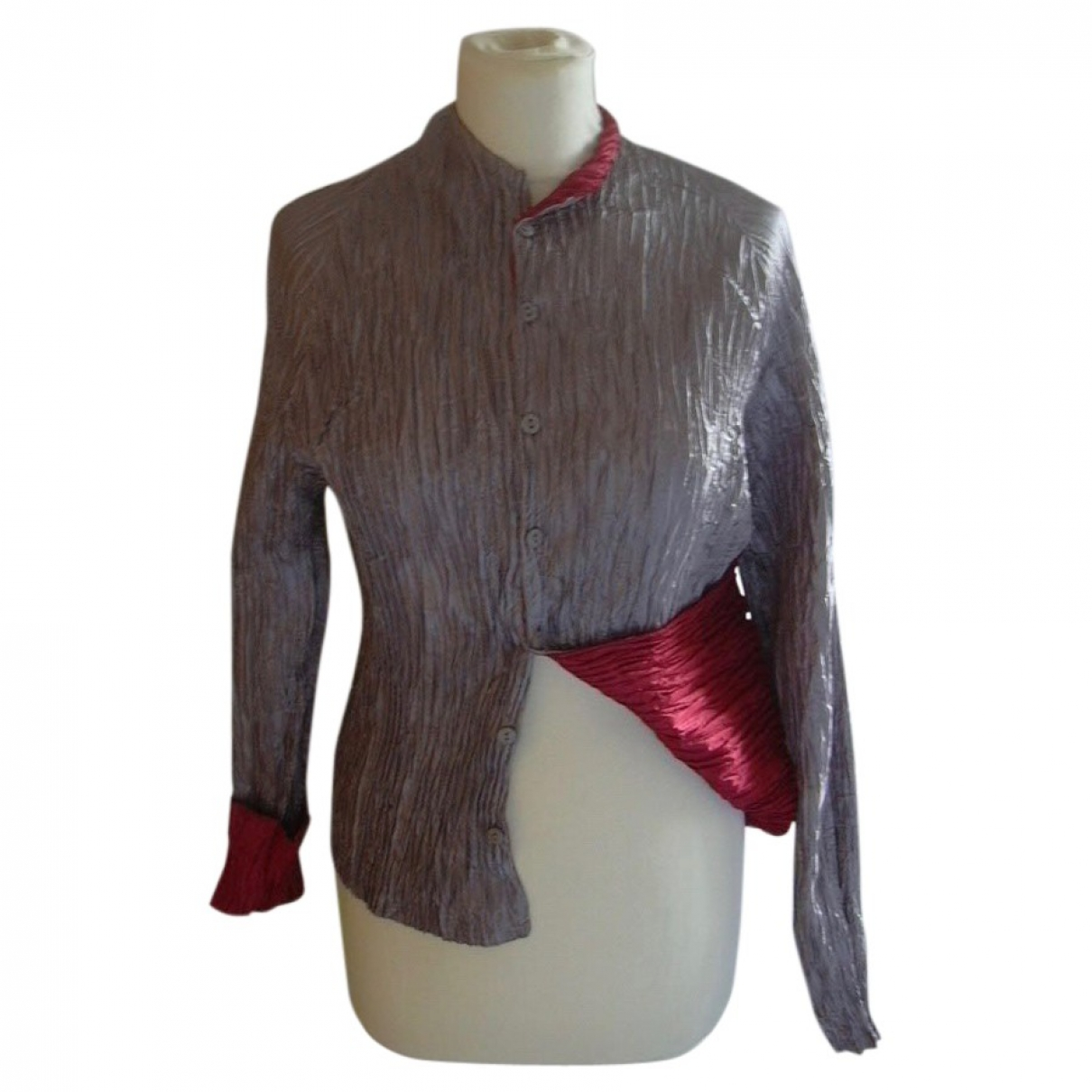 Non Signe / Unsigned \N Jacke in  Silber Synthetik