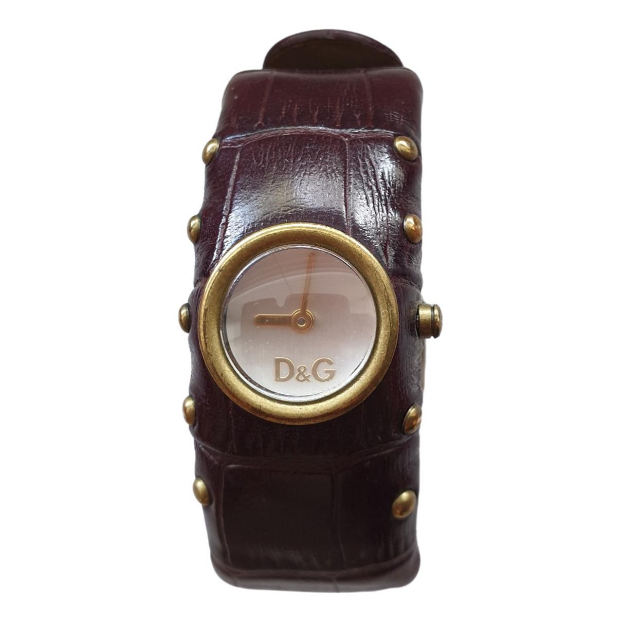 D&g \N Uhr in  Braun Stahl
