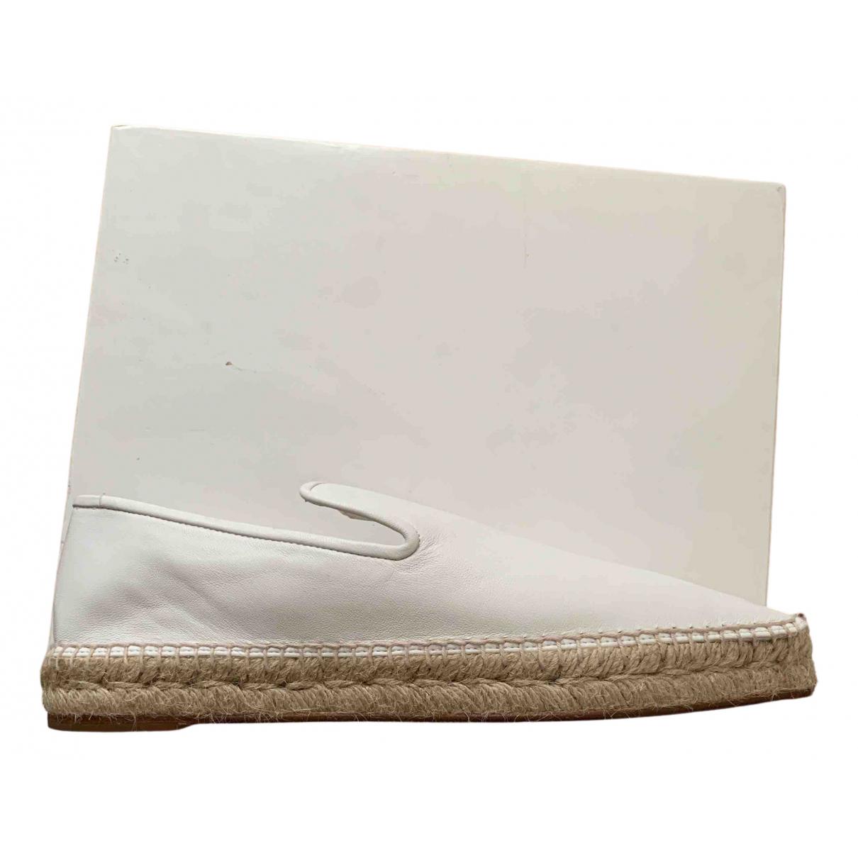 Celine - Espadrilles   pour femme en cuir - blanc