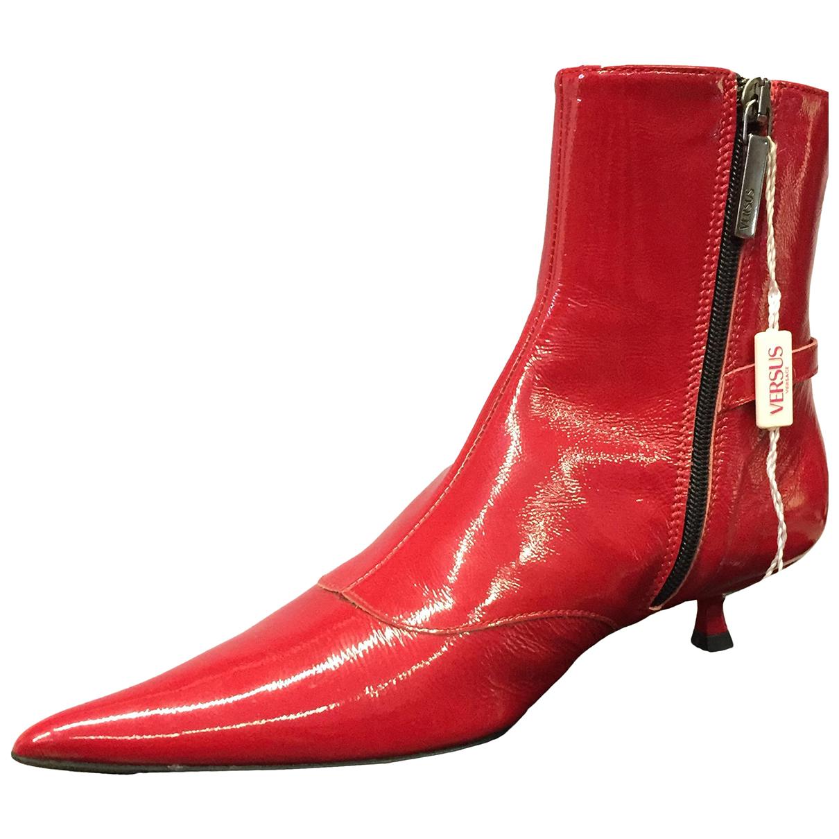 Versace Jeans \N Stiefeletten in  Rot Leder