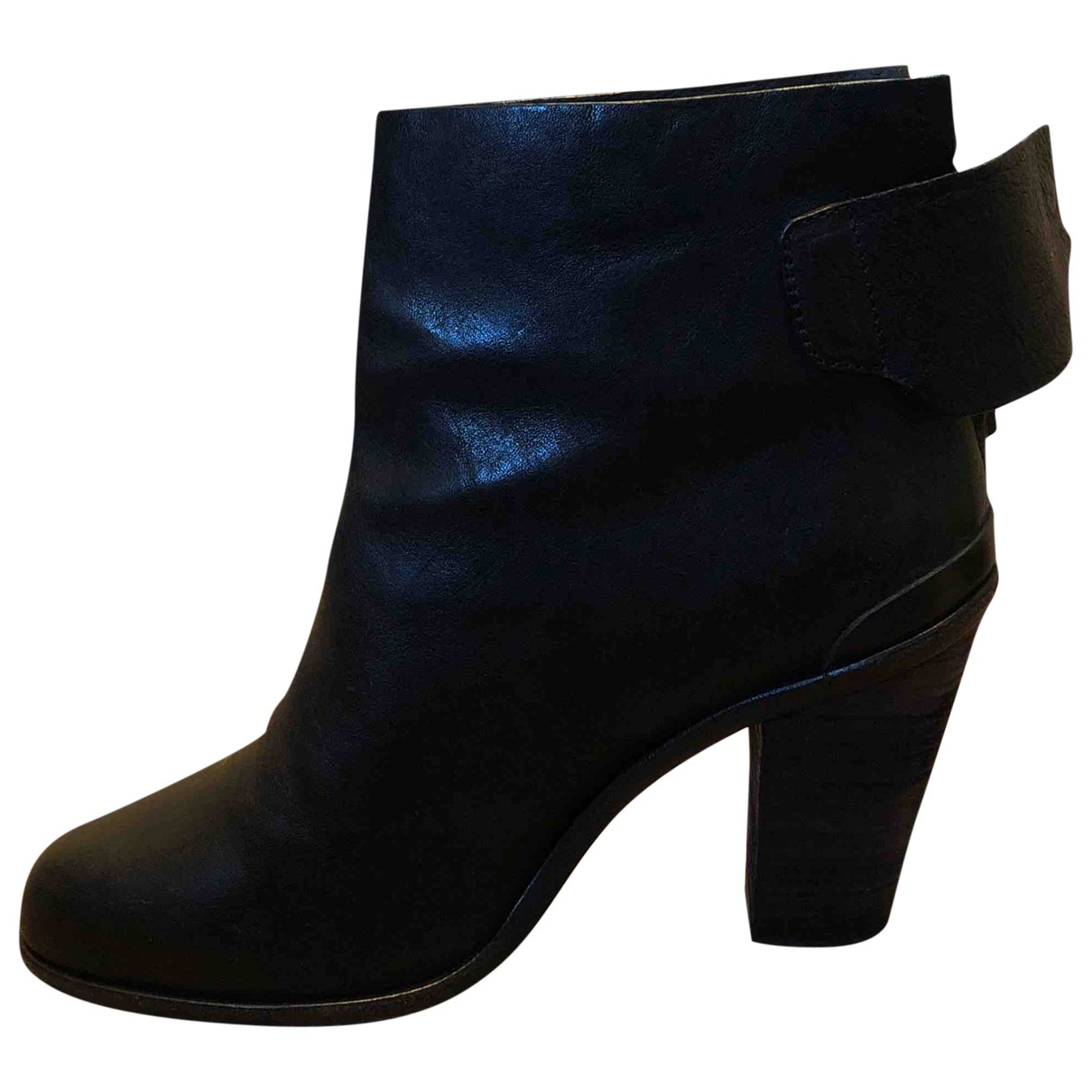 Rag & Bone \N Black Leather Ankle boots for Women 41 EU