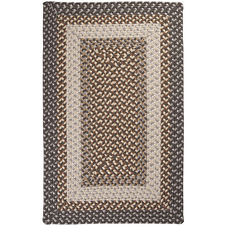 Colonial Mills Sausalito Reversible Braided Indoor/Outdoor Rectangular Rug, One Size , Gray