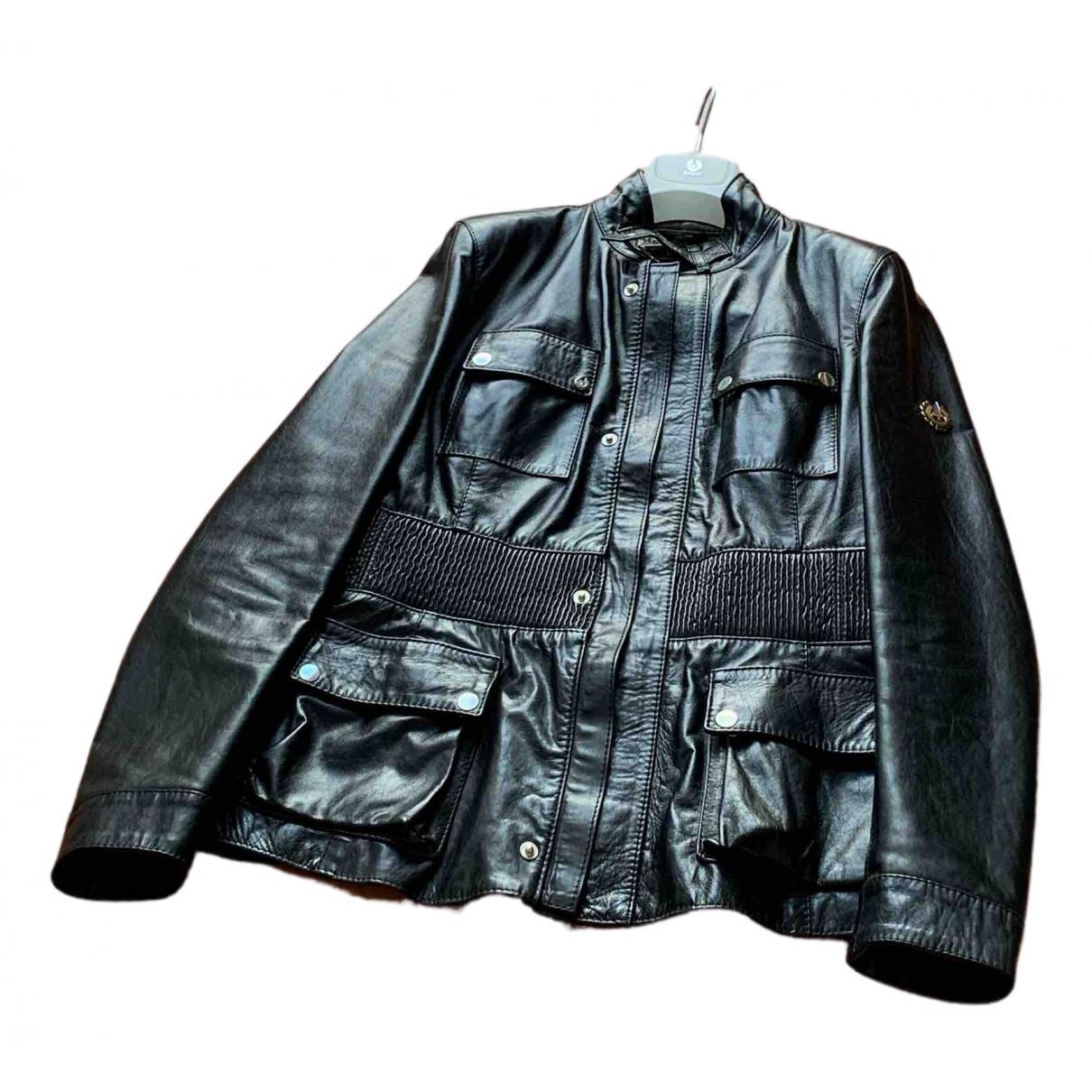 Belstaff N Black Leather Leather jacket for Women 46 IT