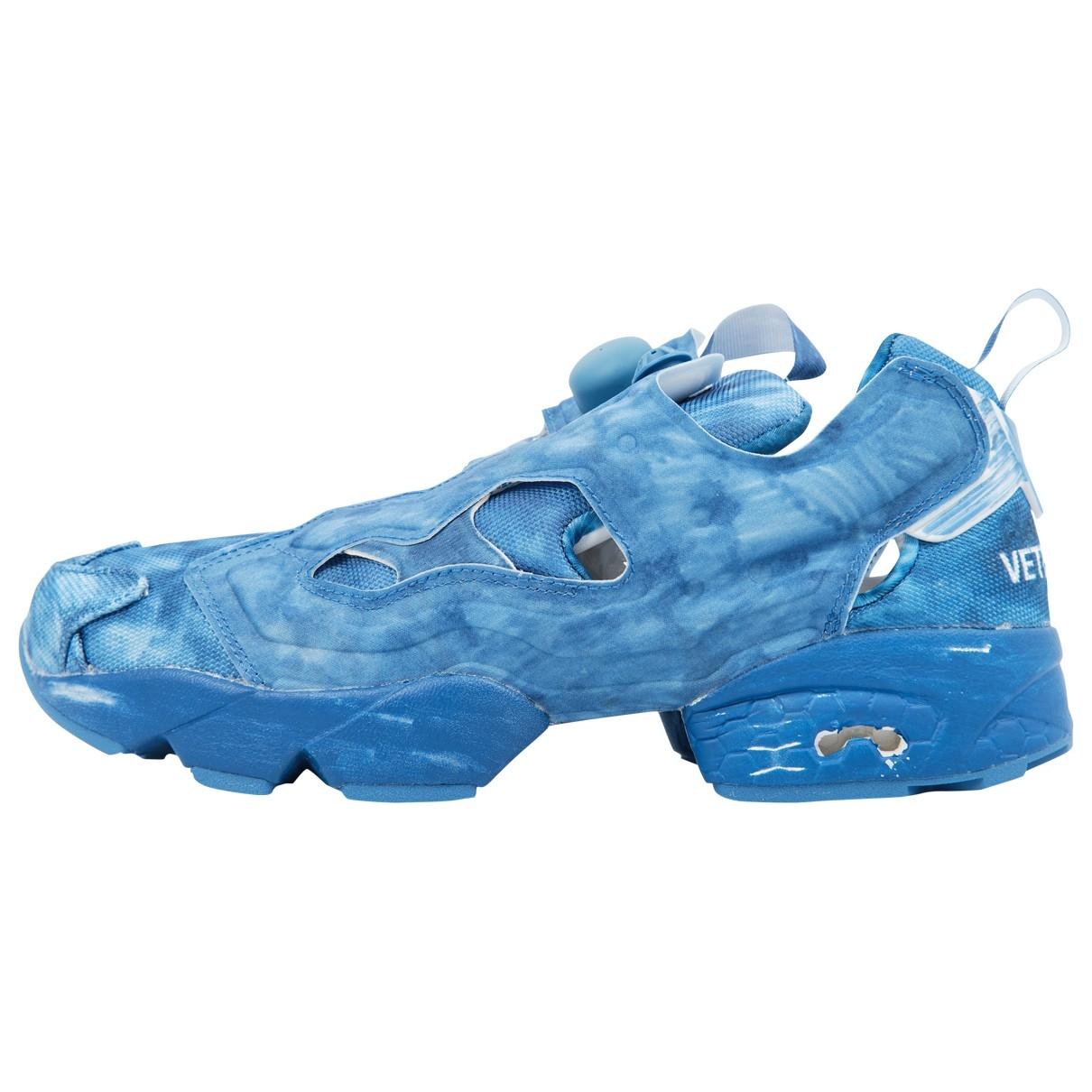 Reebok X Vetements - Baskets   pour femme en toile - bleu