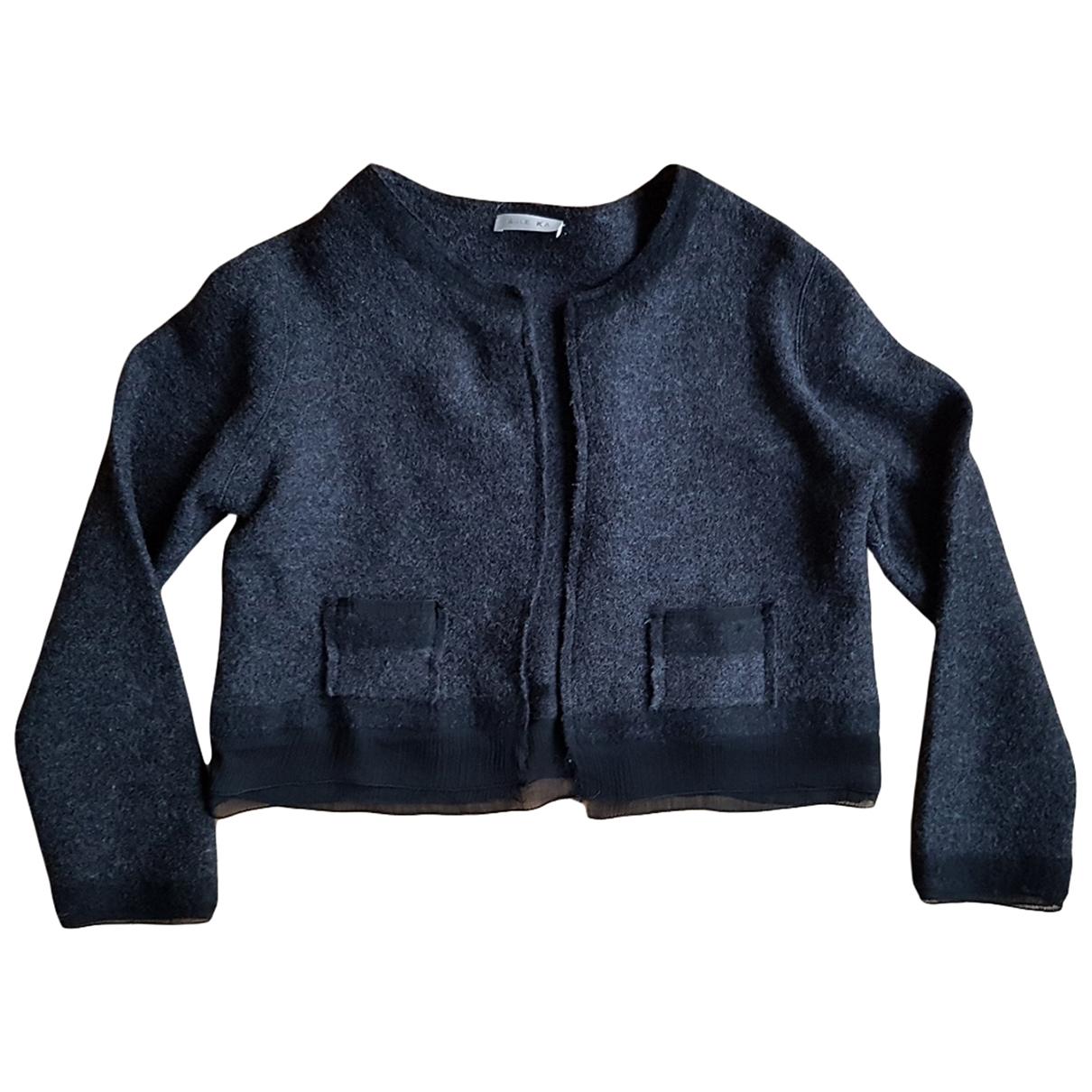 Paule Ka - Pull   pour femme en laine - anthracite