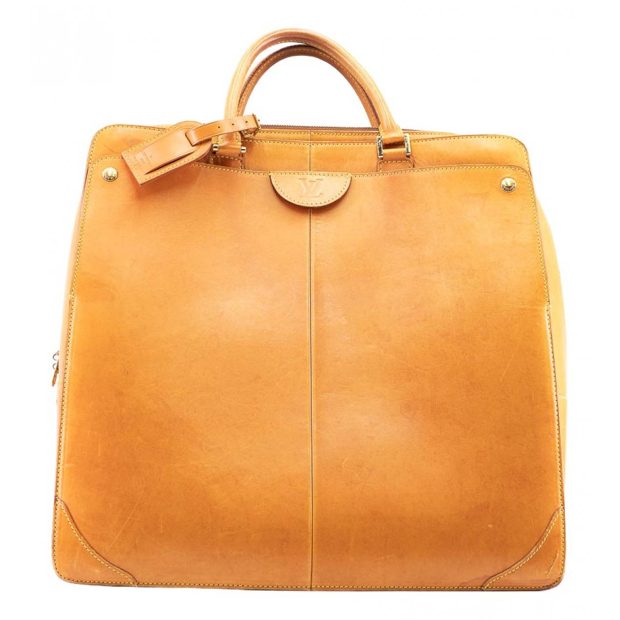 Louis Vuitton - Sac a main Neguev pour femme en cuir - camel