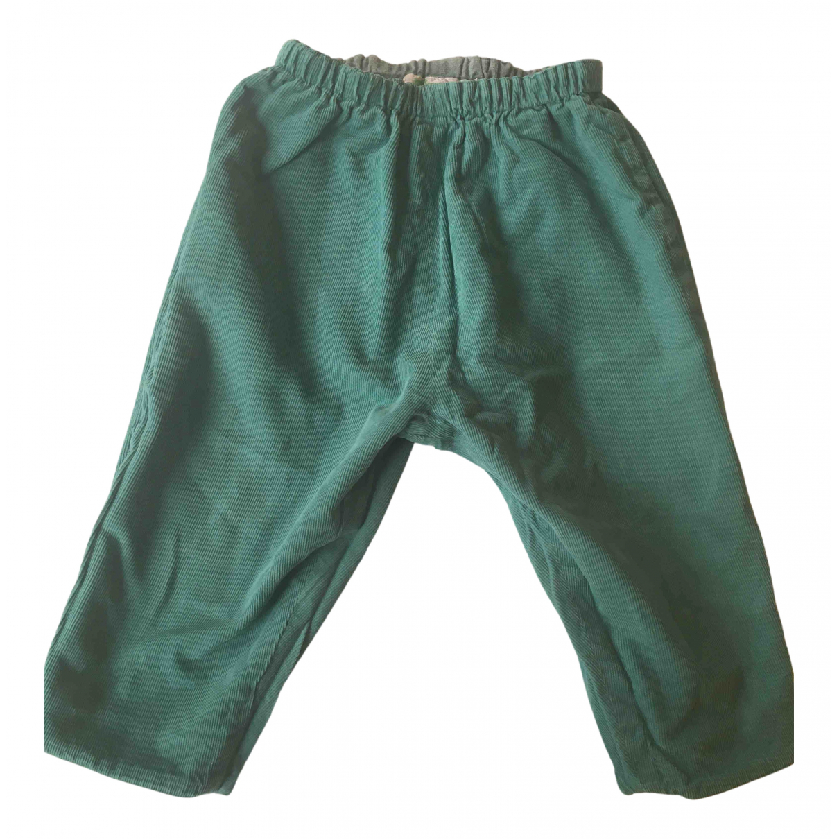 Bonpoint \N Green Cotton Trousers for Kids 2 years - up to 86cm FR