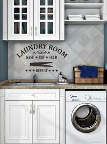Slogan Graphic Wall Sticker