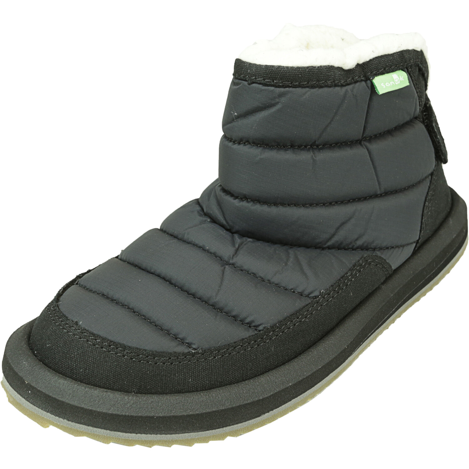 Sanuk Lil Puffer Black Ankle-High Boot - 3M
