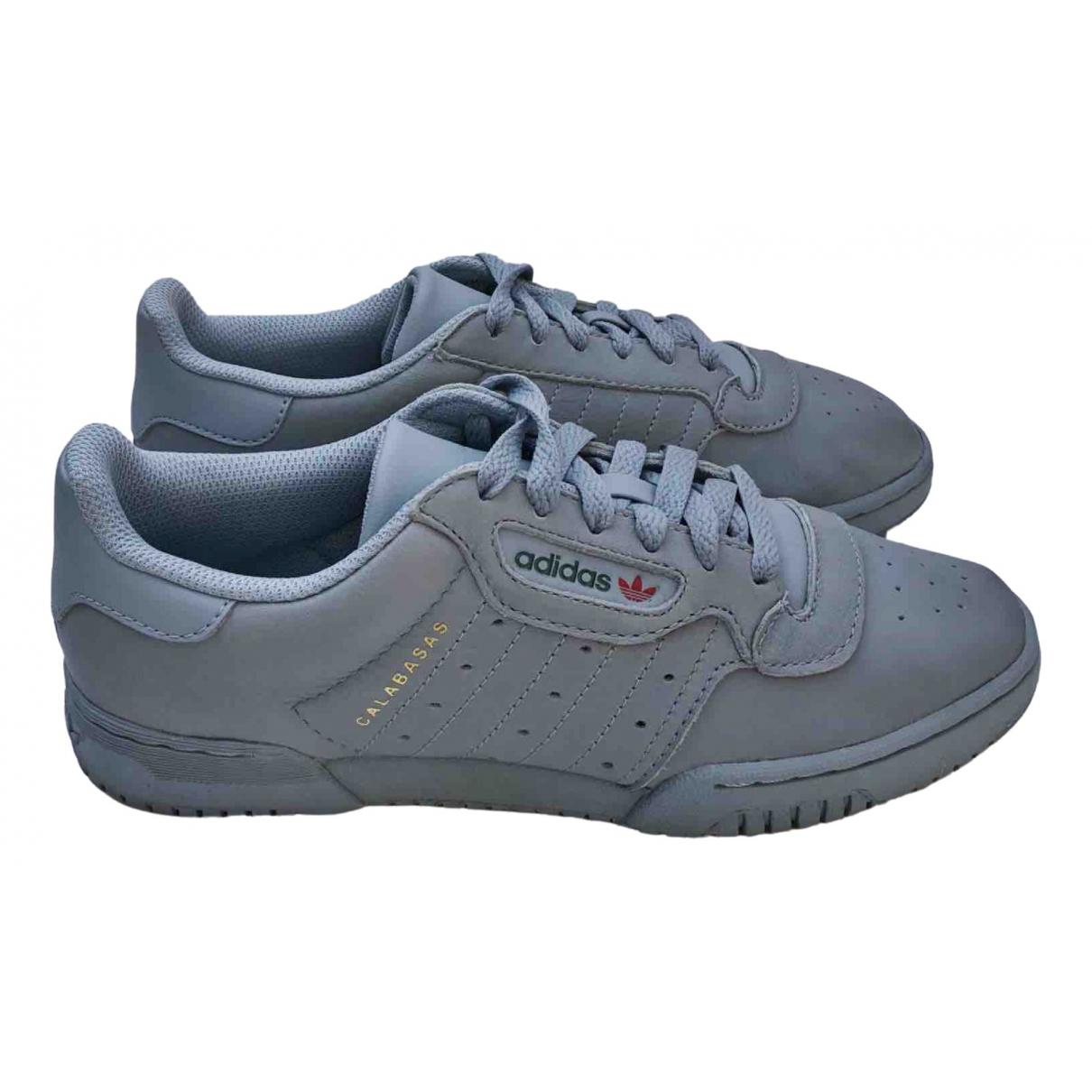 Yeezy X Adidas POWERPHASE Sneakers in  Grau Leder