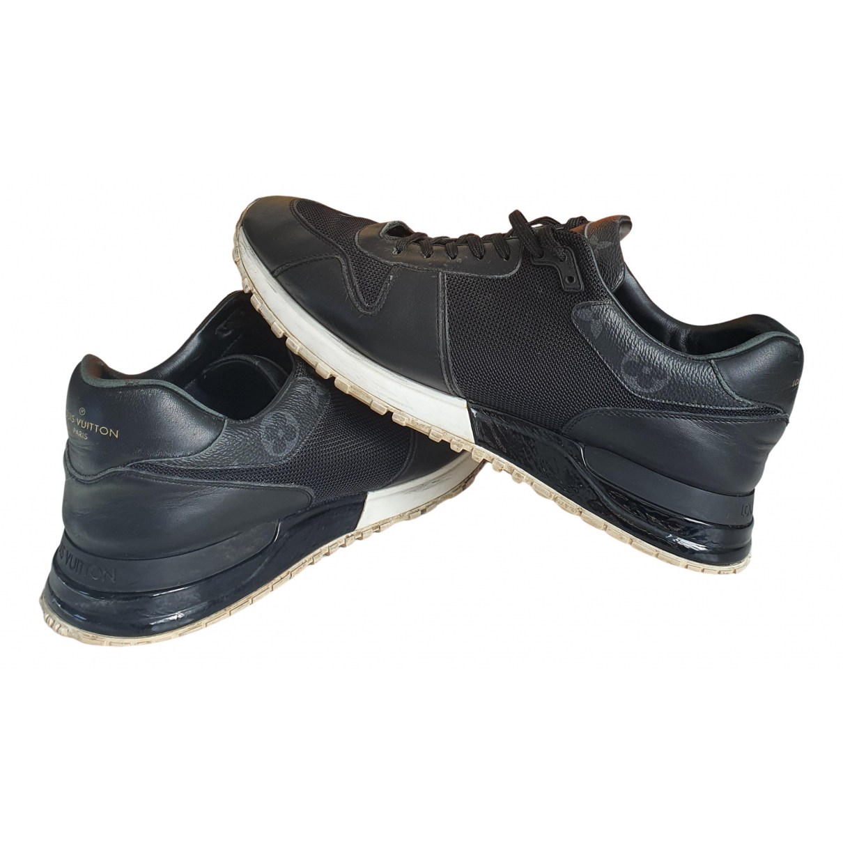 Louis Vuitton Run Away Black Leather Trainers for Men 41 IT