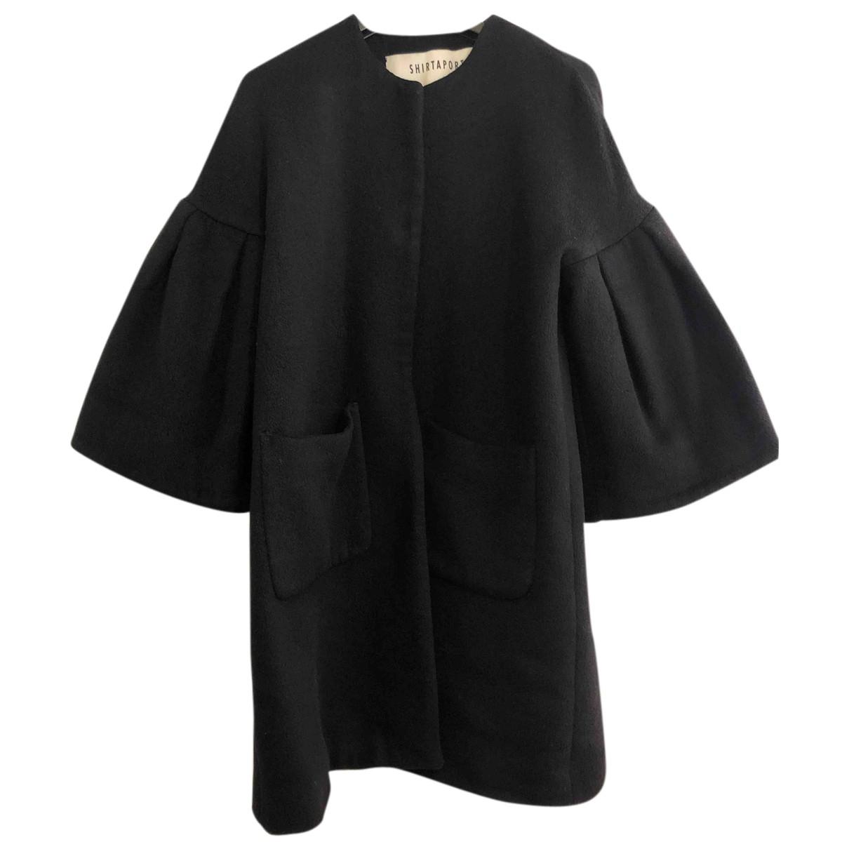 Shirtaporter N Black coat for Women 42 IT