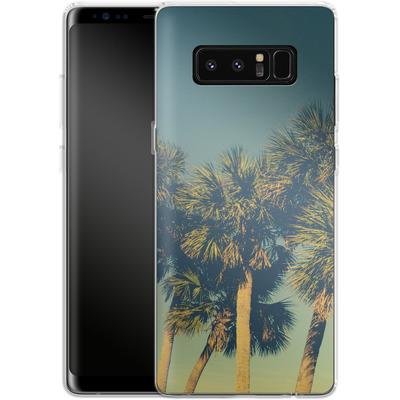 Samsung Galaxy Note 8 Silikon Handyhuelle - Sea Palms von Joy StClaire