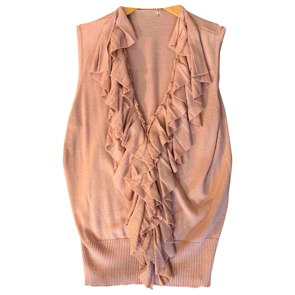 Non Signe / Unsigned \N Pullover in  Rosa Seide