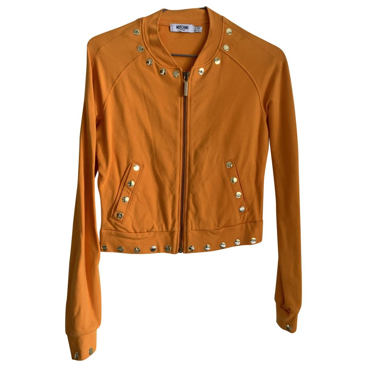 Moschino Cheap And Chic - Veste   pour femme en coton - orange
