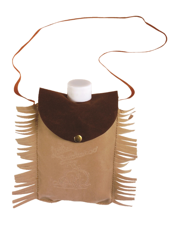 Kostuemzubehor Flachmann Indianer zum Umhaengen Farbe: braun