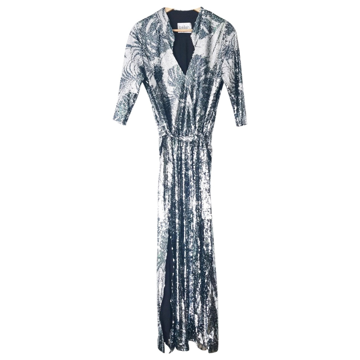 Ba&sh Spring Summer 2020 Silver Glitter dress for Women 36 FR