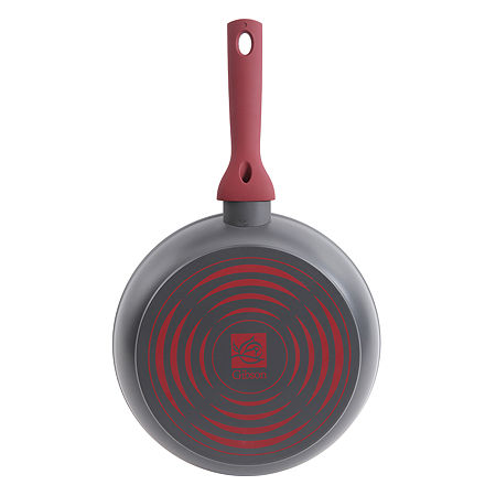 Gibson Home Marengo Aluminum Non Stick Frying Pan, One Size , Red