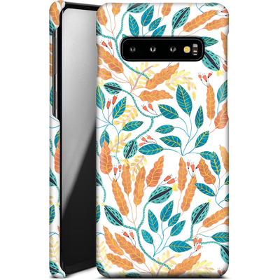Samsung Galaxy S10 Smartphone Huelle - Wild Leaves von Iisa Monttinen