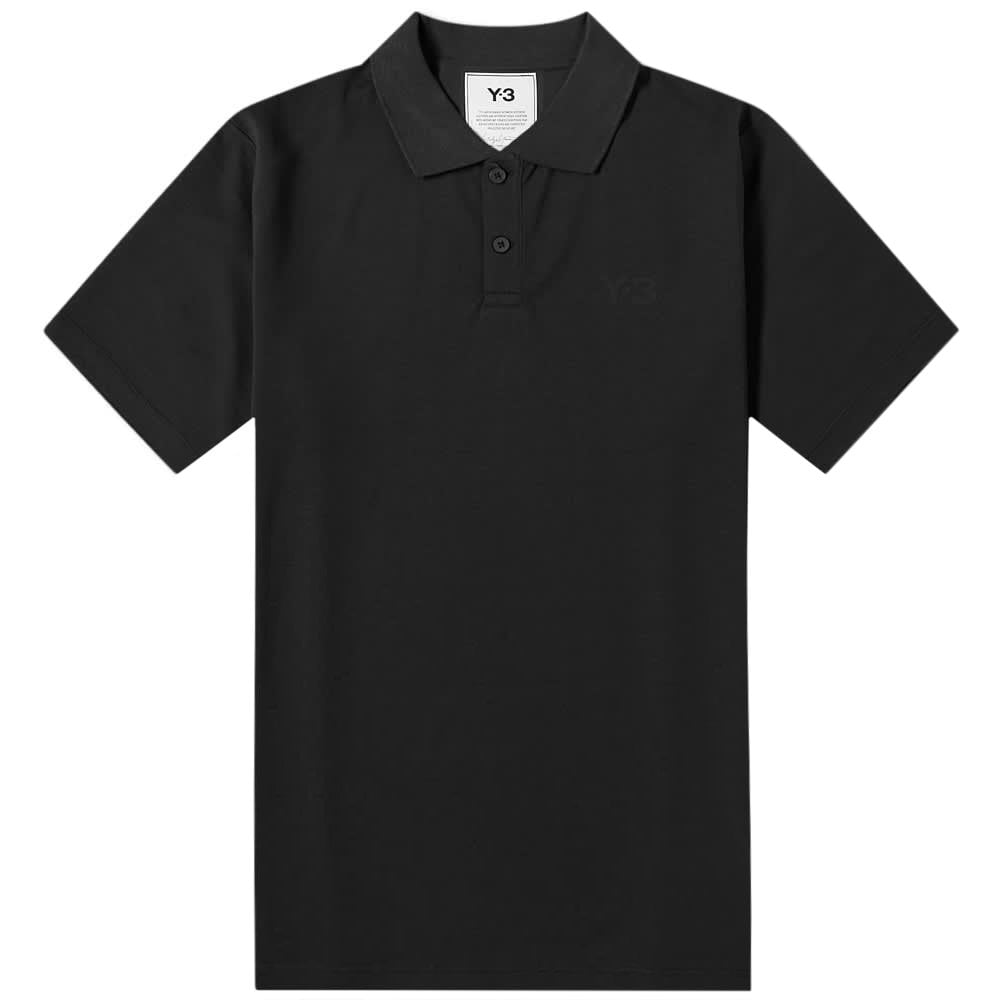 Y-3 Classic Logo Polo Shirt Black Colour: BLACK, Size: EXTRA LARGE