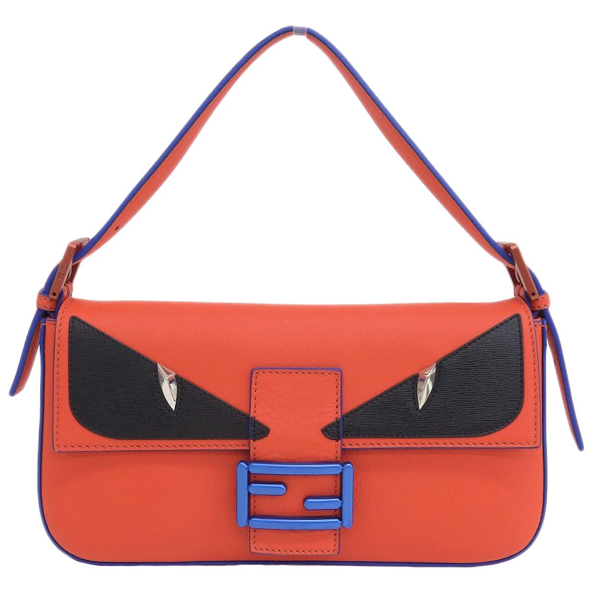 Fendi Baguette Handtasche in  Rot Leder