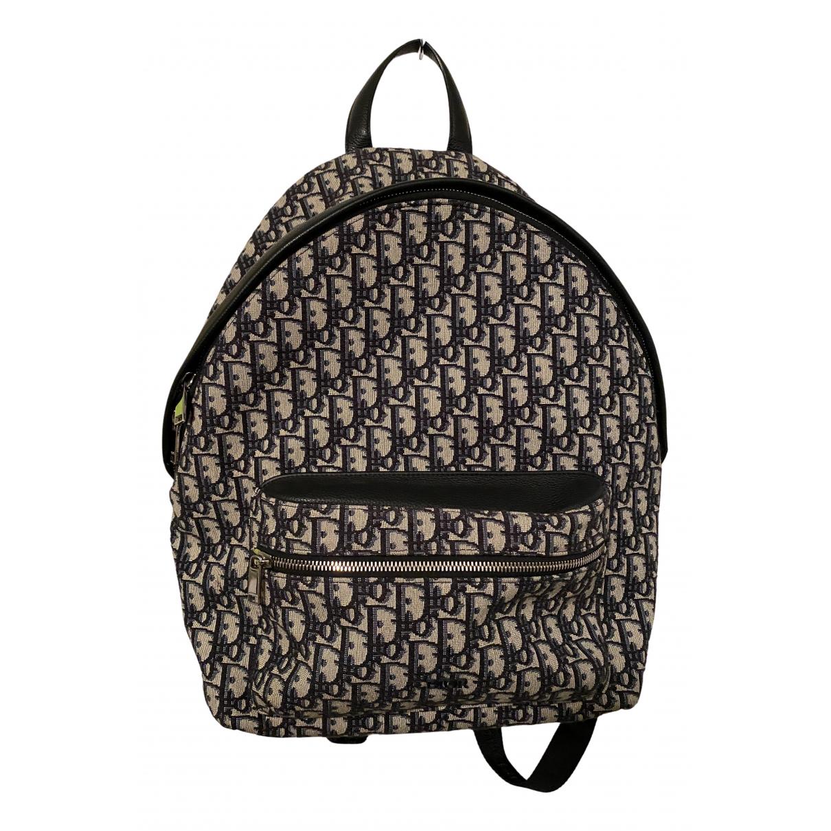 Dior N Blue Cloth backpack for Women N
