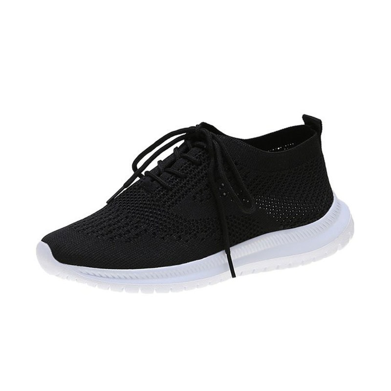 Ericdress Round Toe Lace-Up Low-Cut Upper Plain Women's Sneakers