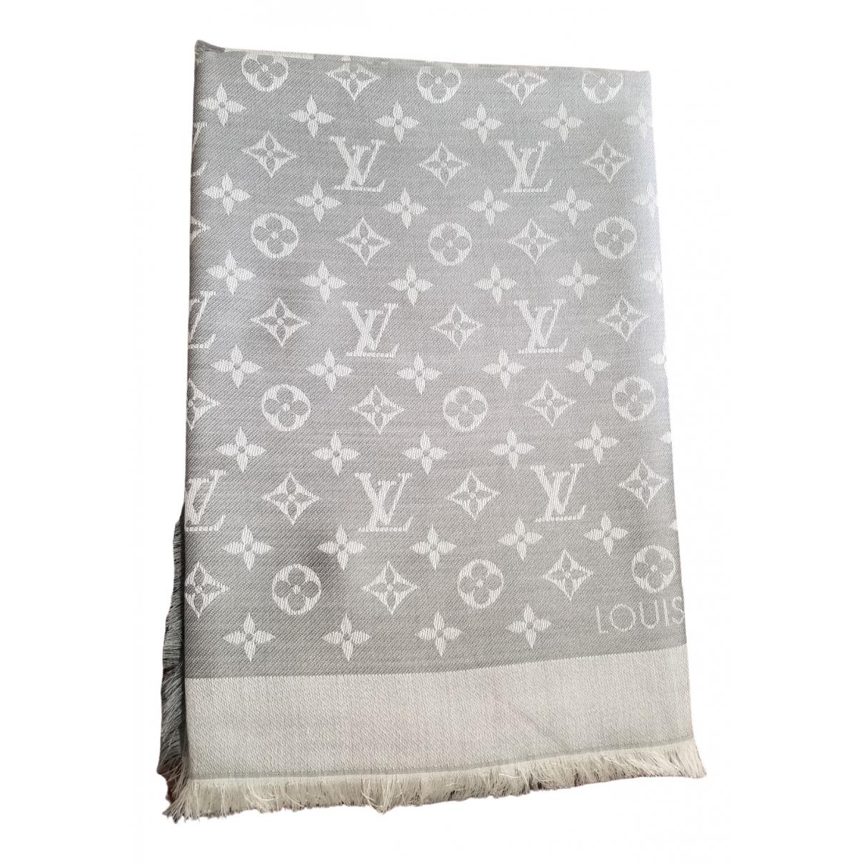 Estola Chale Monogram de Lana Louis Vuitton