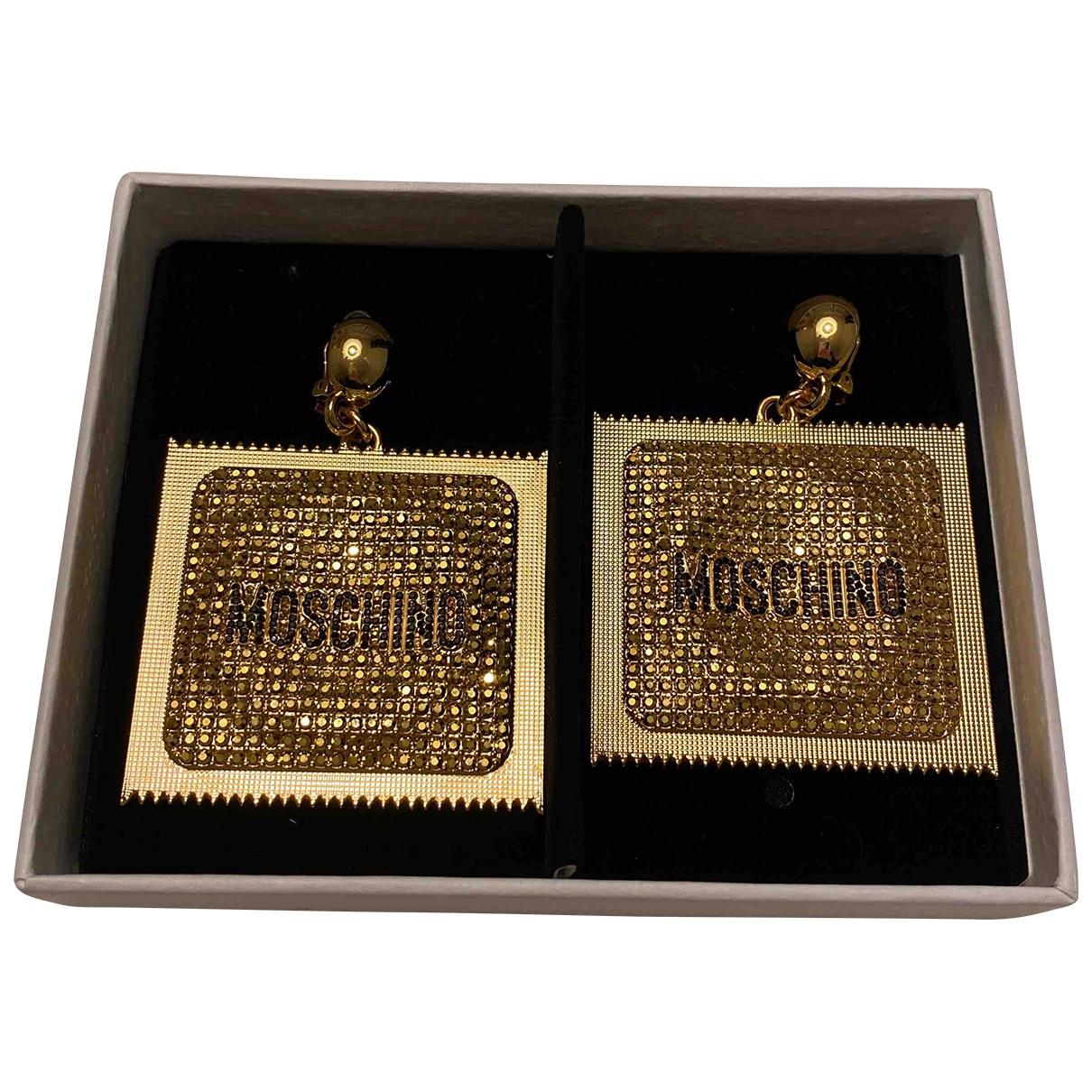 Moschino For H&m - Boucles doreilles   pour femme en metal - dore