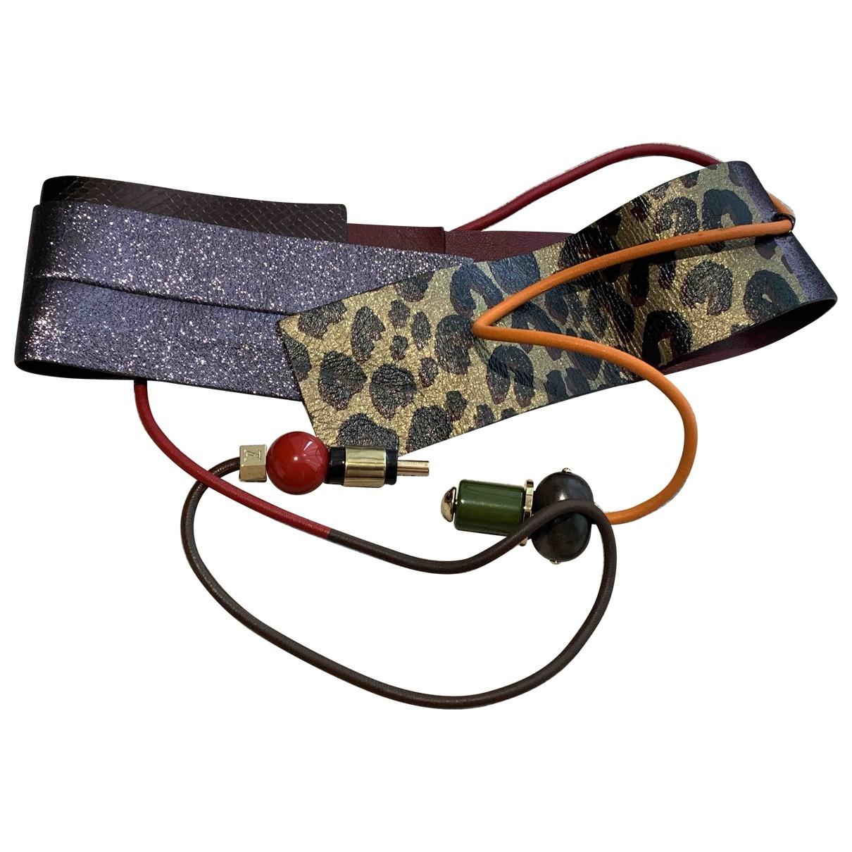 Louis Vuitton \N Purple Leather belt for Women S International