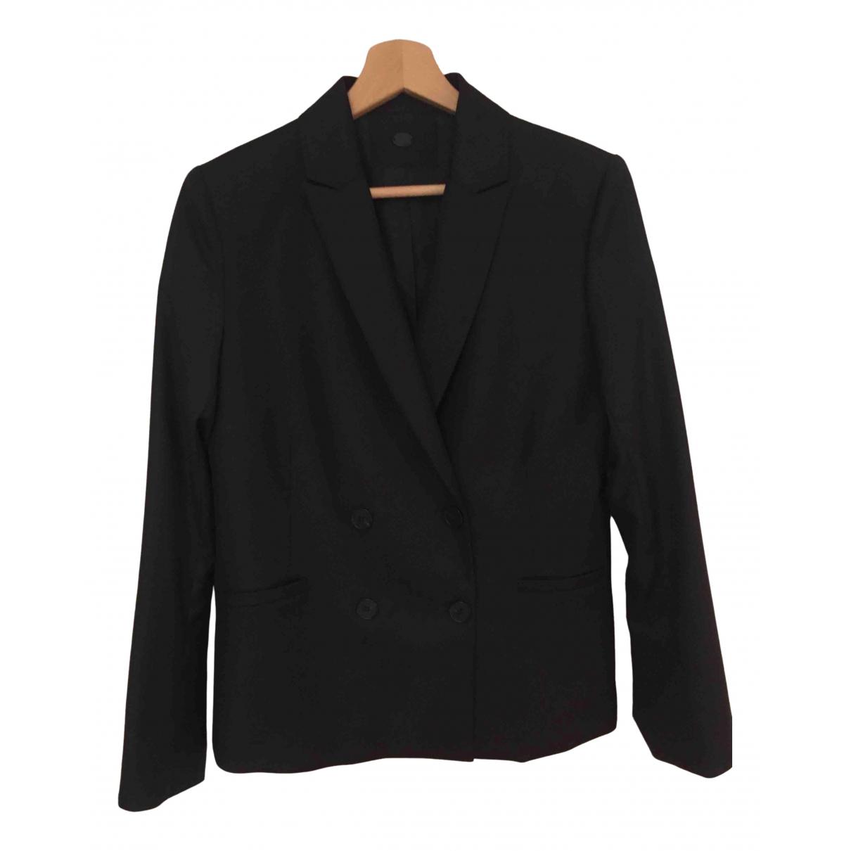 Comptoir Des Cotonniers \N Black Wool jacket for Women 38 FR