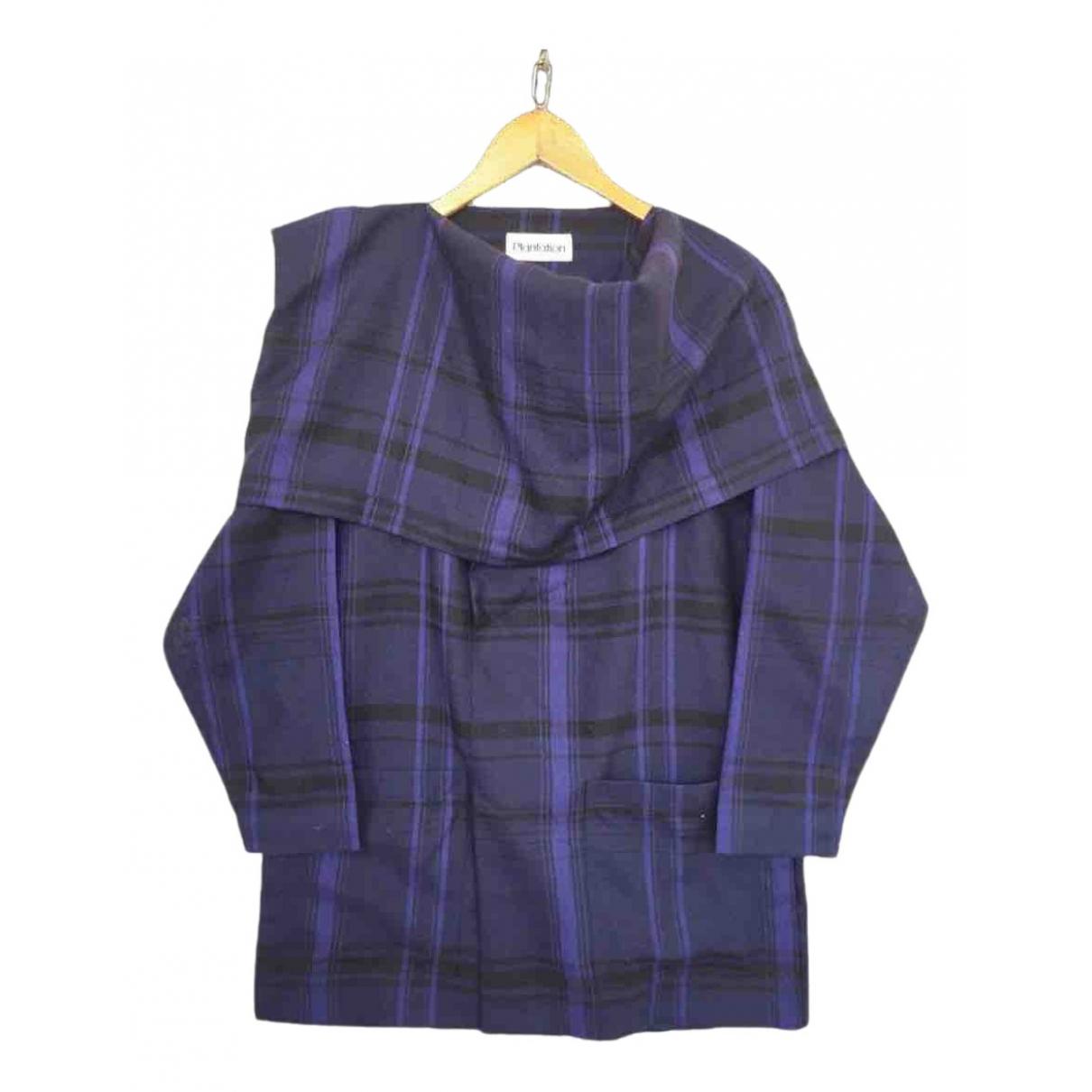 Issey Miyake \N Kleid in  Blau Wolle