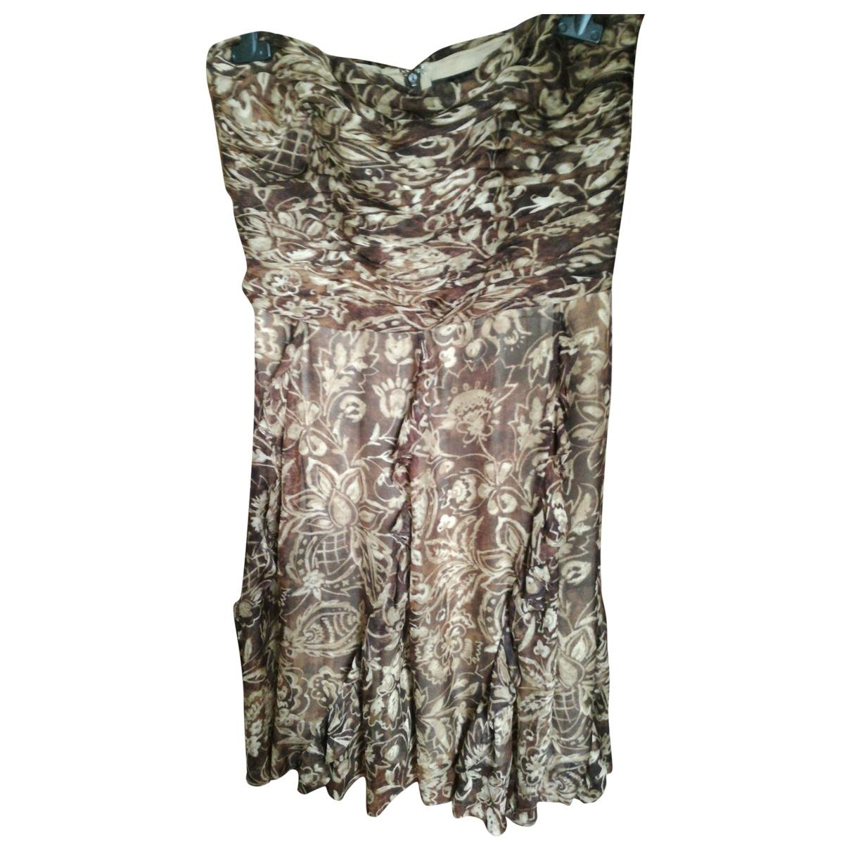 Ralph Lauren - Robe   pour femme en soie - marron